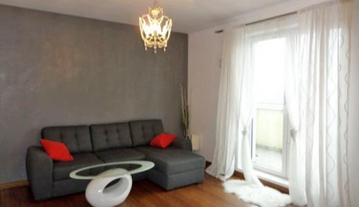 na zdjęciu umeblowany salon w mieszkaniu na wynajem we Wrocławiu