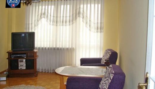 wnętrze salonu w mieszkaniu na wynajem we Wrocławiu Fabryczna