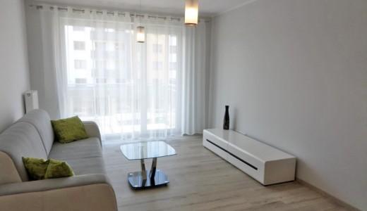 zdjęcie przedstawia nowoczesny salon w mieszkaniu na wynajem we Wrocławiu