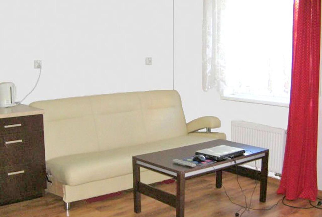 na zdjęciu salon w mieszkaniu do sprzedaż na wrocławskich Krzykach