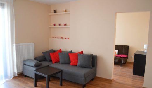 na zdjęciu salon w mieszkaniu do wynajęcia na wrocławskich Krzykach