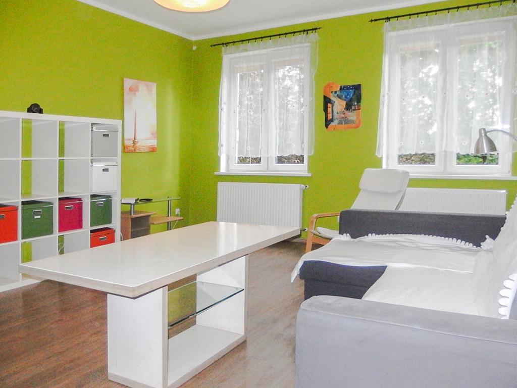 na zdjęciu mieszkanie na wynajem we Wrocławiu, widok na salon
