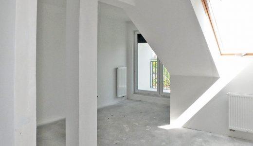 na zdjęciu fragment mieszkania w stanie deweloperskim do sprzedaży we Wrocławiu