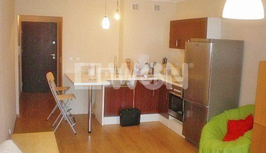 zdjęcie przedstawia widok z salonu na aneks kuchenny w mieszkaniu na wynajem we Wrocławiu