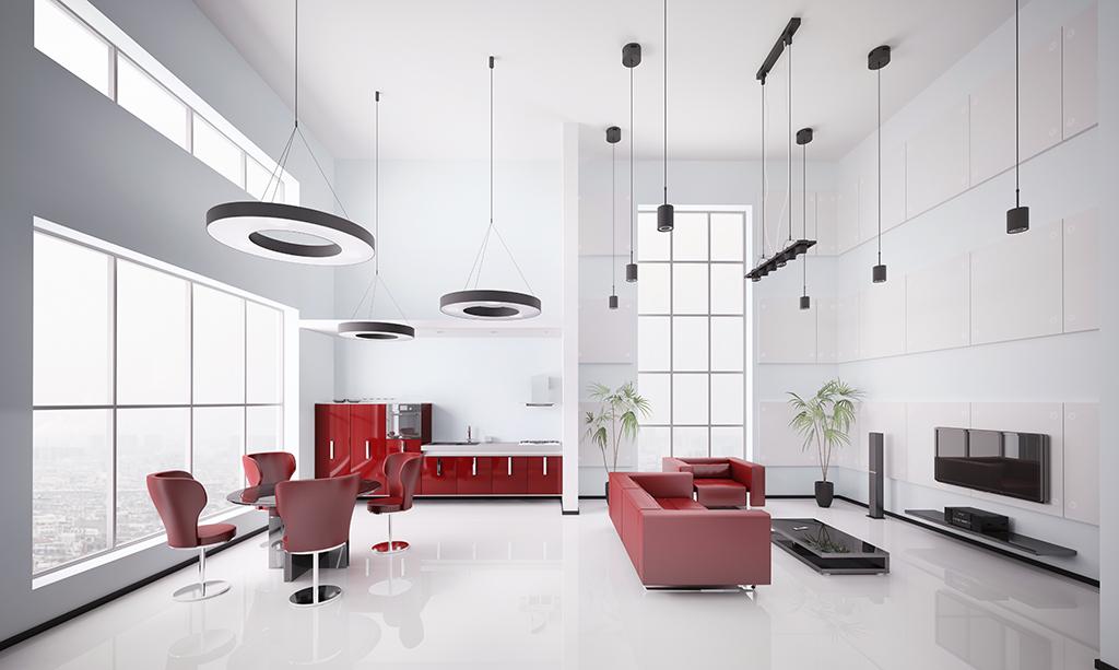 zdjęcie prezentuje nowoczesne mieszkanie we Wrocławiu do sprzedaży, widok na salon