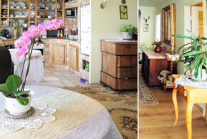 po lewej salon, po prawej gabinet w mieszkaniu na sprzedaż we Wrocławiu