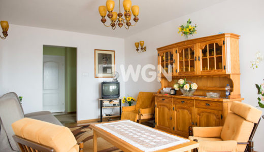 stylowe wnętrze salonu w mieszkaniu na sprzedaż we Wrocławiu