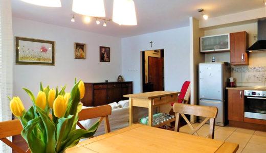 widok od strony jadalni na mieszkanie do sprzedaży we Wrocławiu