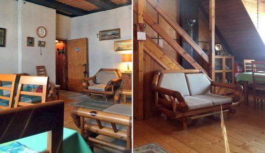 po lewej salon, po prawej schody na drugi poziom w mieszaniu na sprzedaż we Wrocławiu