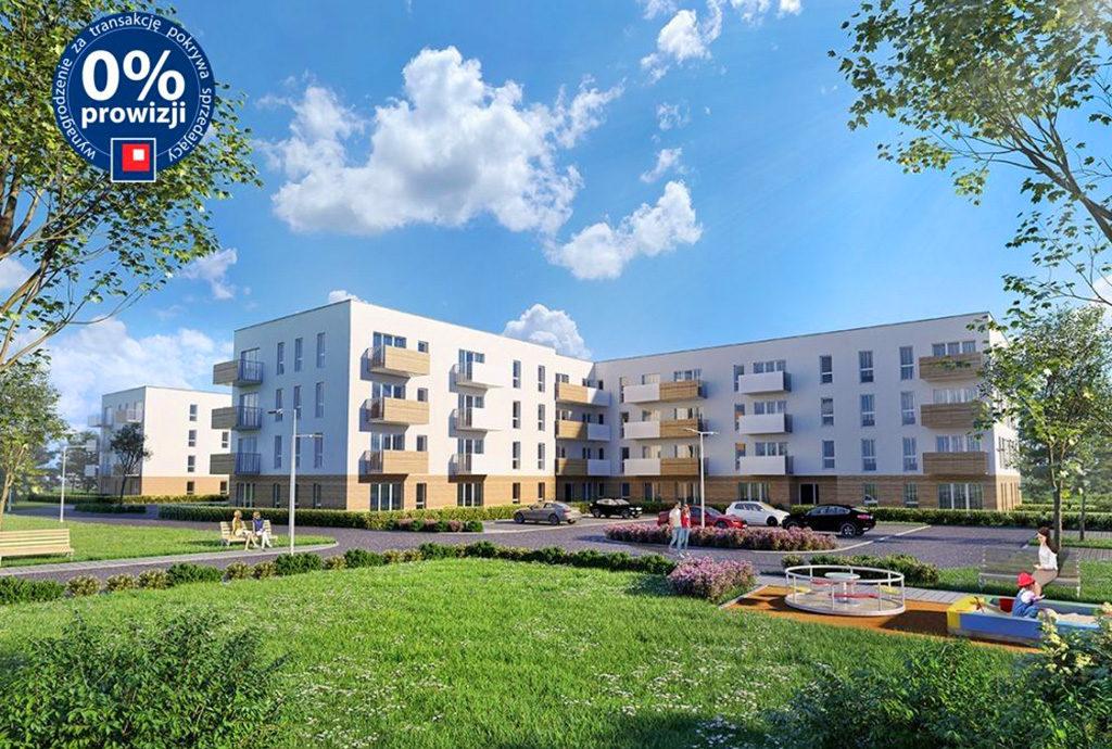 zdjęcie prezentuje osiedle we Wrocławiu, na którym znajduje się oferowane na sprzedaż mieszkanie