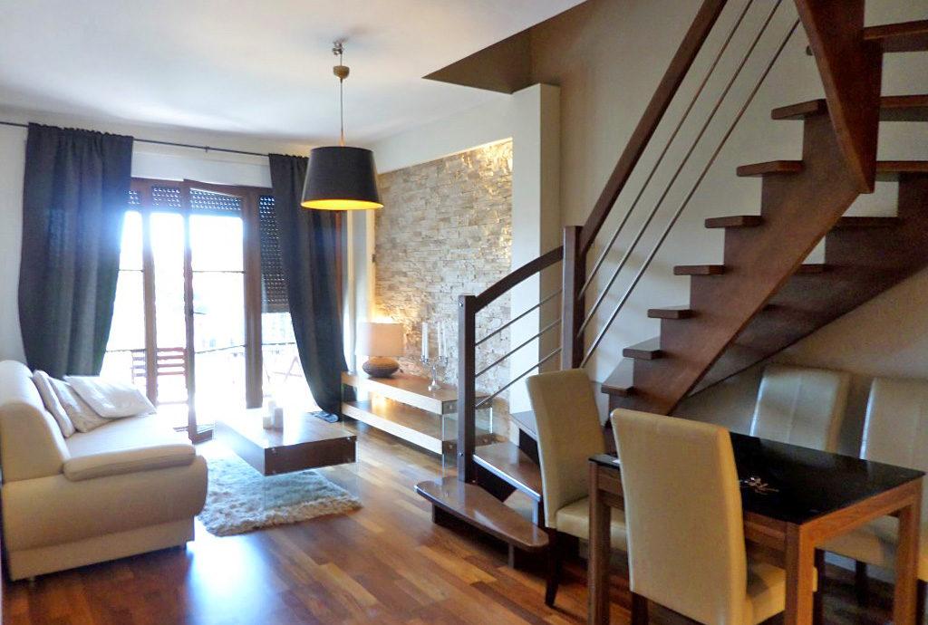nowoczesny salon w mieszkaniu do wynajęcia we Wrocławiu