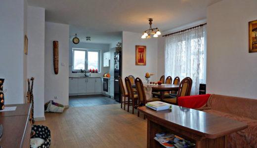 widok na salon w mieszkaniu do sprzedaży we Wrocławiu (okolice)