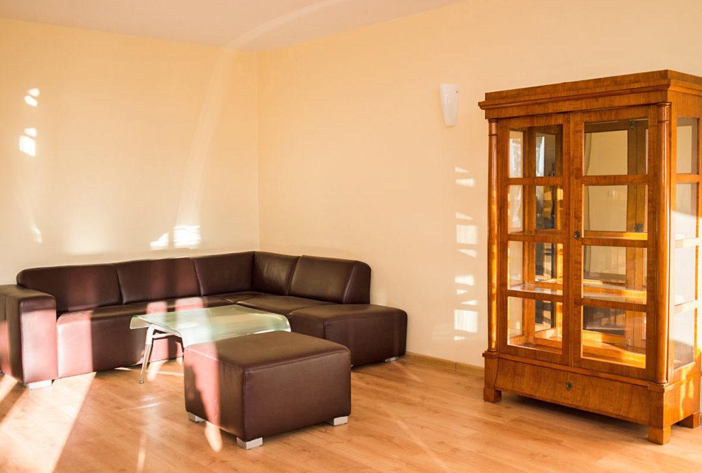 widok na salon w mieszkaniu do wynajmu we Wrocławiu
