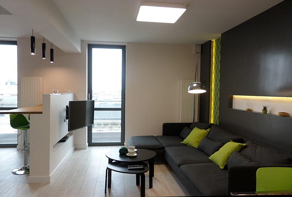 nowoczesne, designerskie wnętrze mieszkania do wynajęcia we Wrocławiu