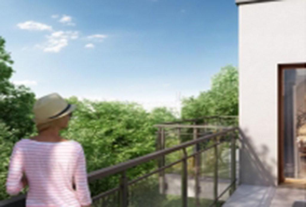 rzut z balkonu/tarasu przy mieszkaniu na sprzedaż we Wrocławiu Fabryczna