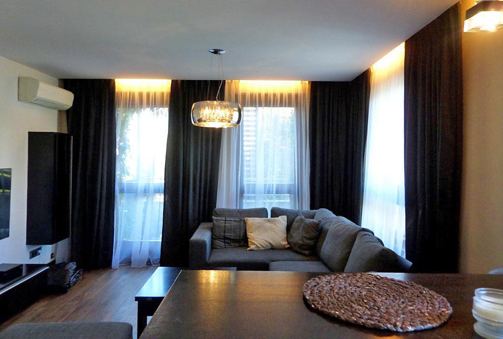 komfortowy salon w mieszkaniu do wynajęcia we Wrocławiu na Krzykach