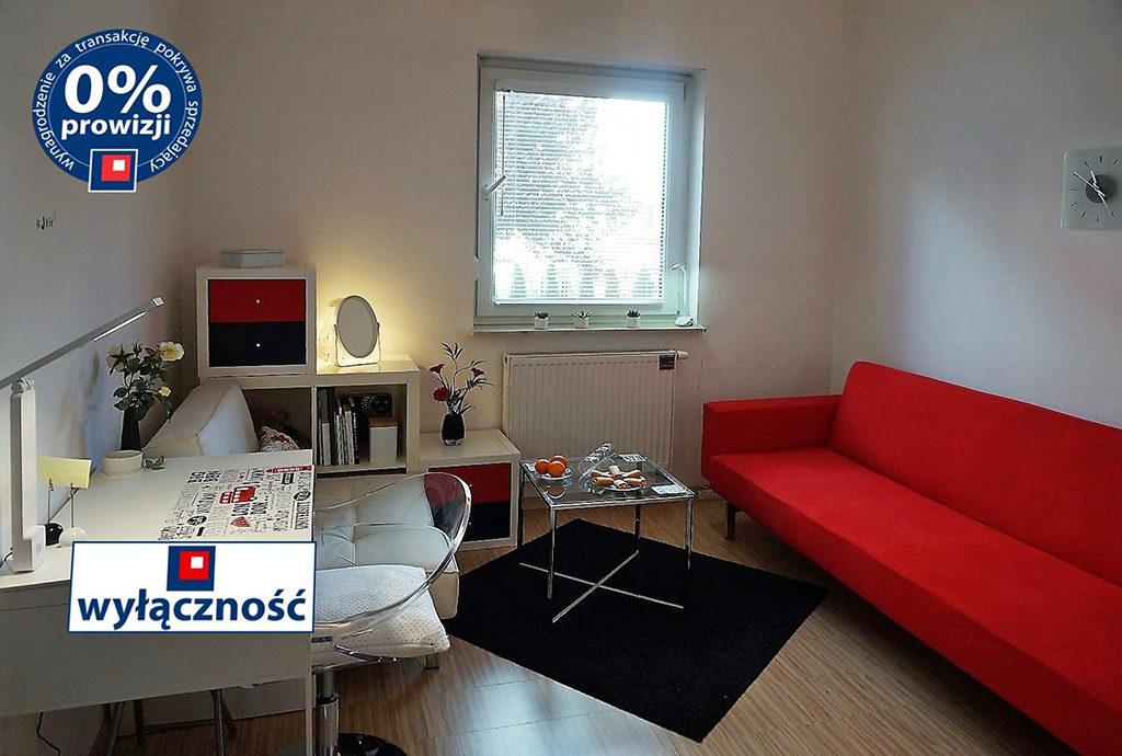 komfortowo zaaranżowany i wyposażony salon w mieszkaniu Wrocław Krzyki na sprzedaż