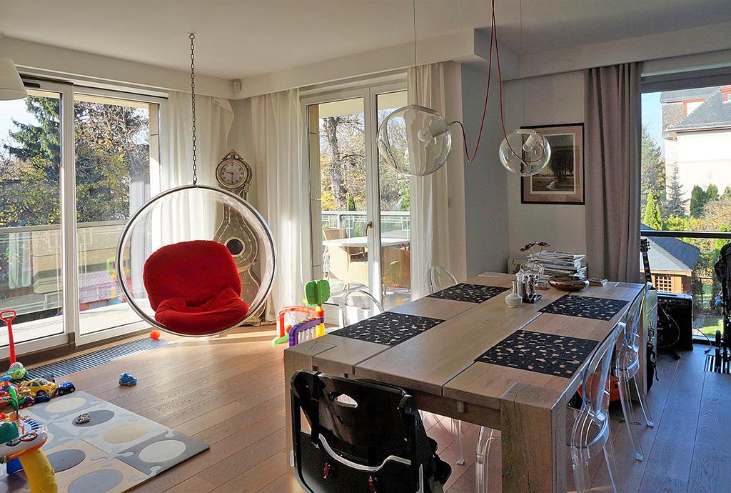 nowoczesny salon w mieszkaniu do sprzedaży Wrocław Krzyki