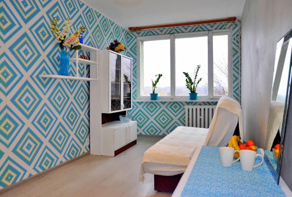 komfortowy salon w mieszkaniu Wrocław (okolice) do sprzedaży