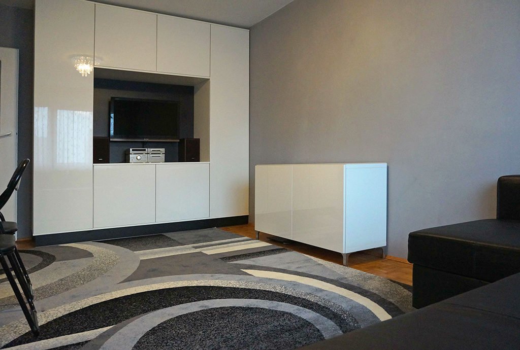 komfortowy salon w mieszkaniu na wynajem Wrocław