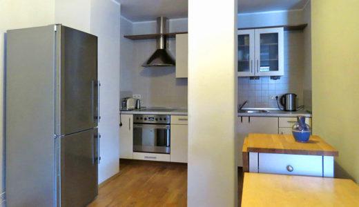 komfortowo umeblowana i urządzona kuchnia w mieszkaniu do wynajmu Wrocław