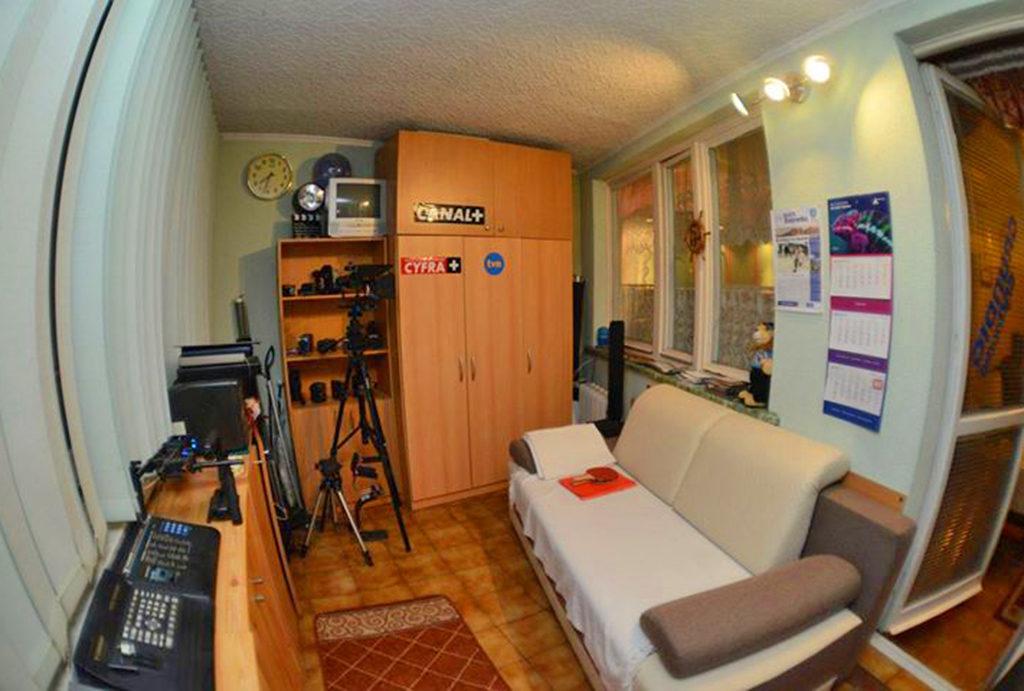 widok na gabinet do pracy w mieszkaniu na sprzedaż Wrocław Śródmieście