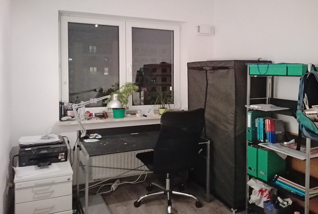 widok na gabinet w mieszkaniu do sprzedaży Wrocław Krzyki