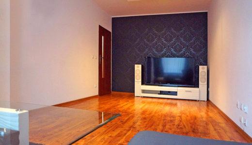 nowoczesny salon w mieszkaniu do sprzedaży Wrocław Fabryczna