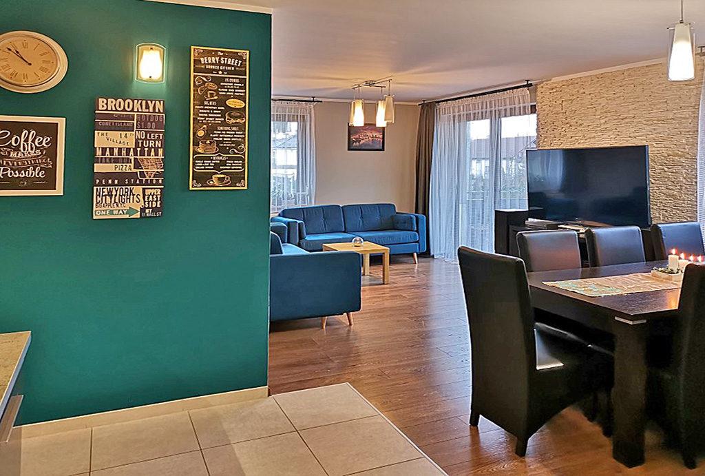 luksusowy salon w mieszkaniu do wynajmu Wrocław Fabryczna