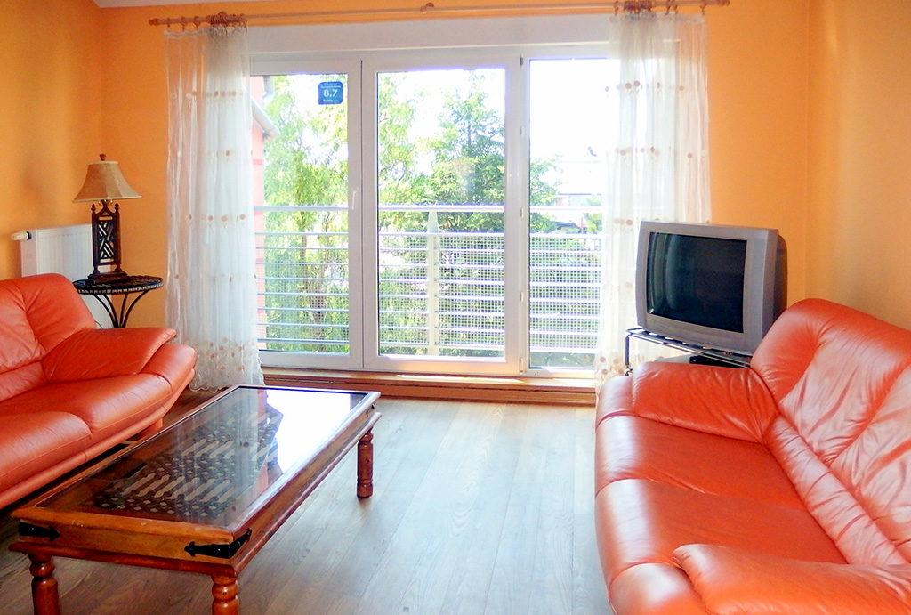 na zdjęciu prestiżowy salon w mieszkaniu na sprzedaż Wrocław Krzyki