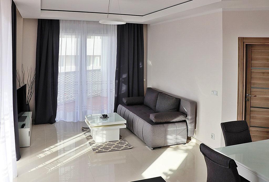 luksusowy salon w mieszkaniu do wynajmu Wrocław Stare Miasto