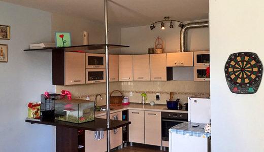 zabudowana, komfortowa kuchnia w mieszkaniu do sprzedaży Wrocław (okolice)