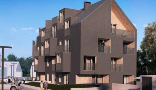 zdjęcie prezentuje apartamentowiec Wrocław (okolice), w którym mieści się oferowane do sprzedaży mieszkanie