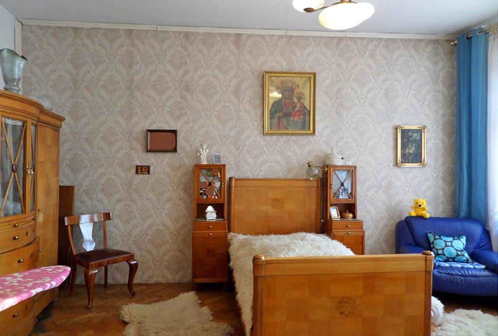 na zdjęciu komfortowa sypialnia w mieszkaniu na sprzedaż Wrocław Śródmieście
