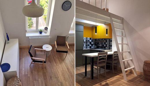 po lewej ekskluzywny salon w mieszkaniu do wynajęcia Wrocław Centrum