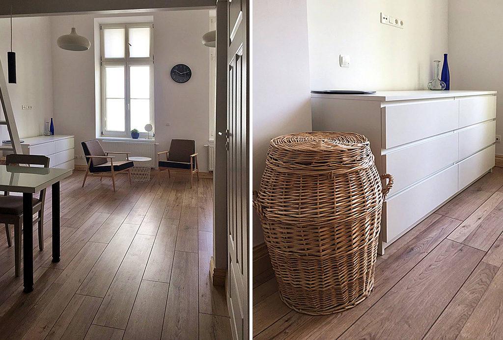 fragment salonu oraz holu w mieszkaniu do wynajmu Wrocław Centrum