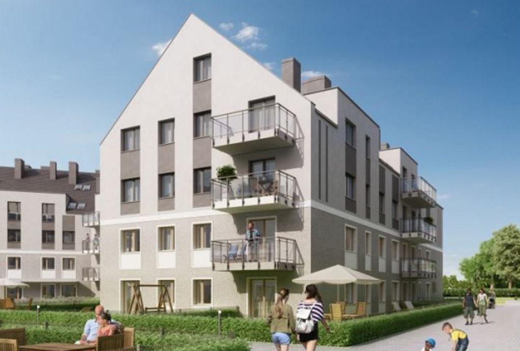 prestiżowy budynek, w którym mieści się oferowane do sprzedaży mieszkanie Wrocław Fabryczna