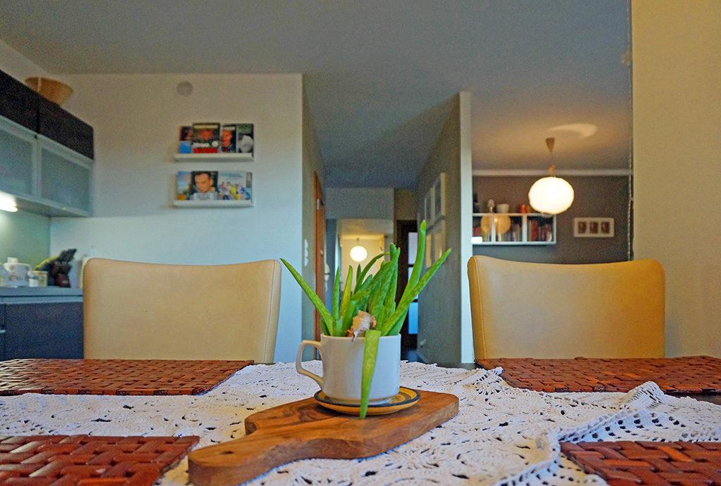 widok od strony jadalni na salon w mieszkaniu na wynajem Wrocław Fabryczna