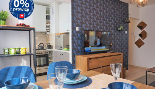 komfortowy, nowoczesny salon w mieszkaniu do wynajęcia Wrocław Fabryczna