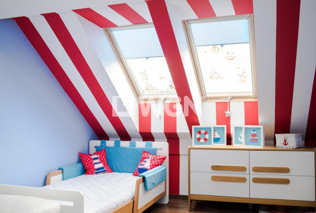 na zdjęciu ciekawa aranżacja sypialni w mieszkaniu do sprzedaży Wrocław Krzyki