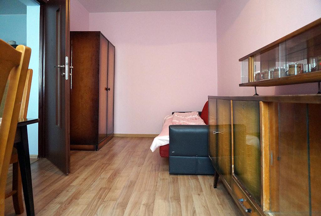fragment sypialni w mieszkaniu do wynajmu Wrocław Krzyki