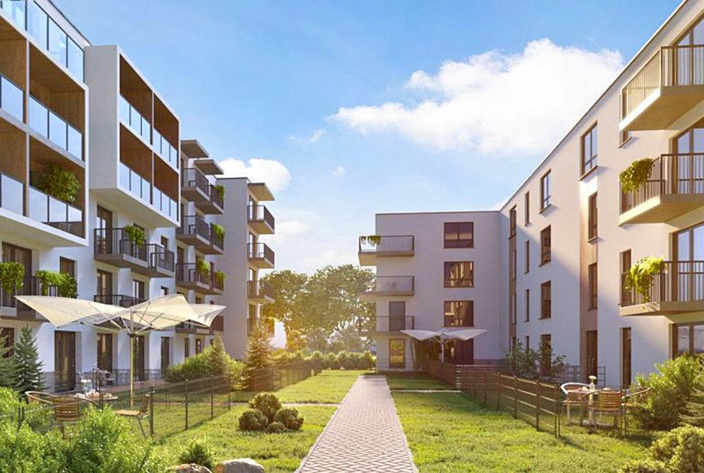 fragment osiedla na którym znajduje się oferowane na sprzedaż mieszkanie Wrocław Psie Pole