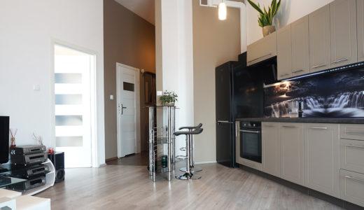 zaprojektowane w nowoczesnym designie wnętrze mieszkania do sprzedaży Wrocław Fabryczna