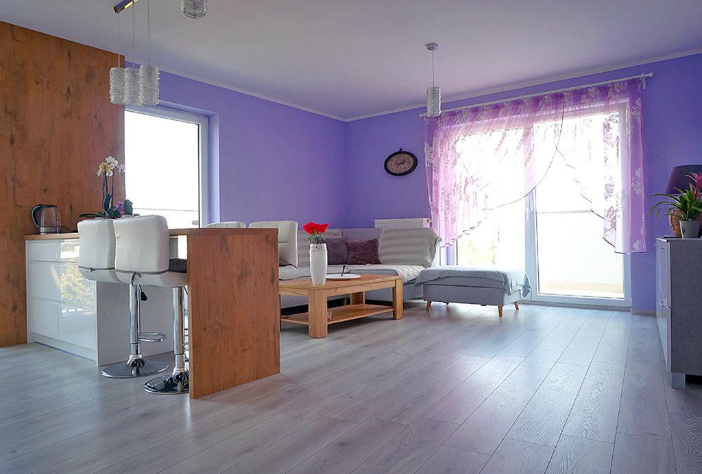 rzut na salon w mieszkaniu do sprzedaży Wrocław Krzyki