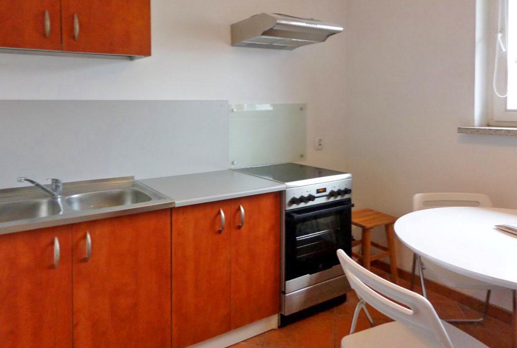 zabudowana komfortowo kuchnia w mieszkaniu na wynajem Wrocław Krzyki