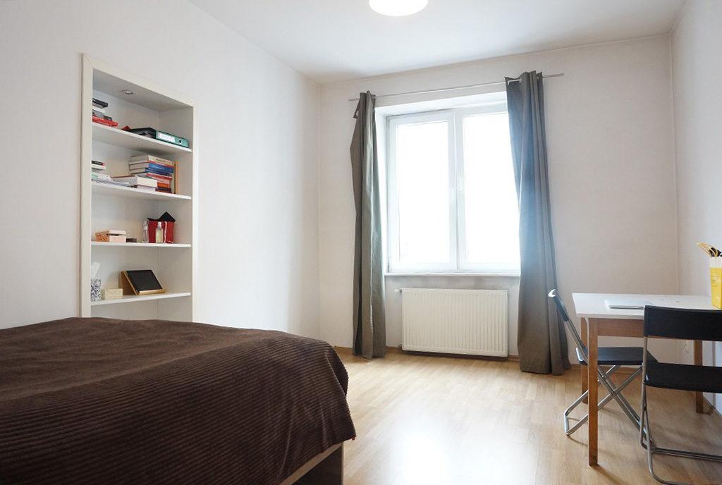 widok na sypialnię albo gabinet do pracy w mieszkaniu na sprzedaż Wrocław Stare Miasto