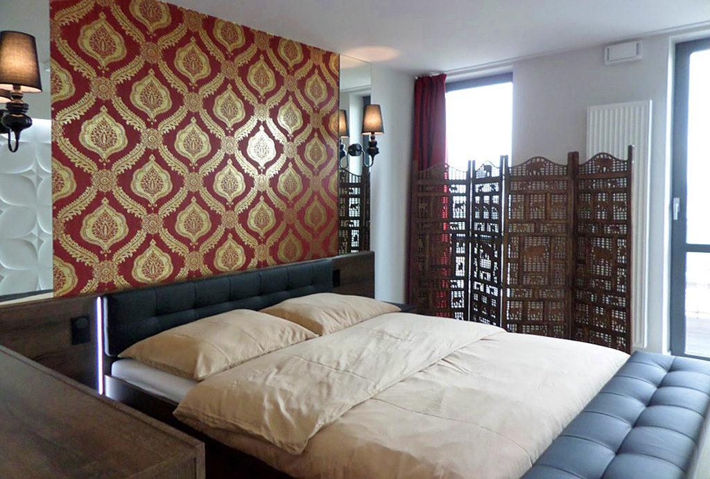 elegancka, prywatna sypialnia w mieszkaniu na wynajem Wrocław Śródmieście