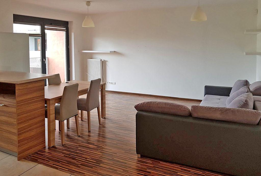 widok na salon w mieszkaniu do wynajmu Wrocław Fabryczna