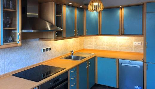 na zdjęciu komfortowa kuchnia w mieszkaniu na wynajem Wrocław Krzyki