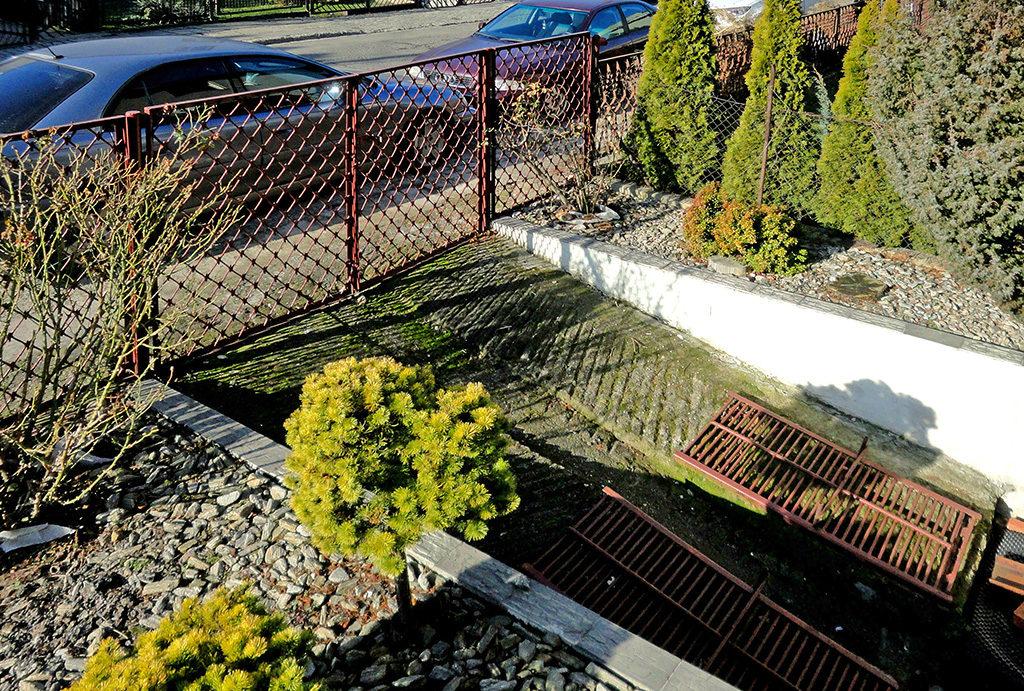 przepięknie zadbany ogród w mieszkaniu do wynajęcia Wrocław Psie Pole